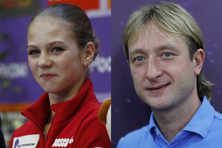 アレクサンドラ・トルソワとエフゲニー・プルシェンコ氏(右)【写真:Getty Images】