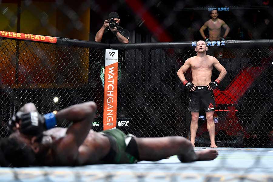 ピョートル・ヤンはアルジャメイン・スターリング戦で失格負けした【写真:Getty Images】