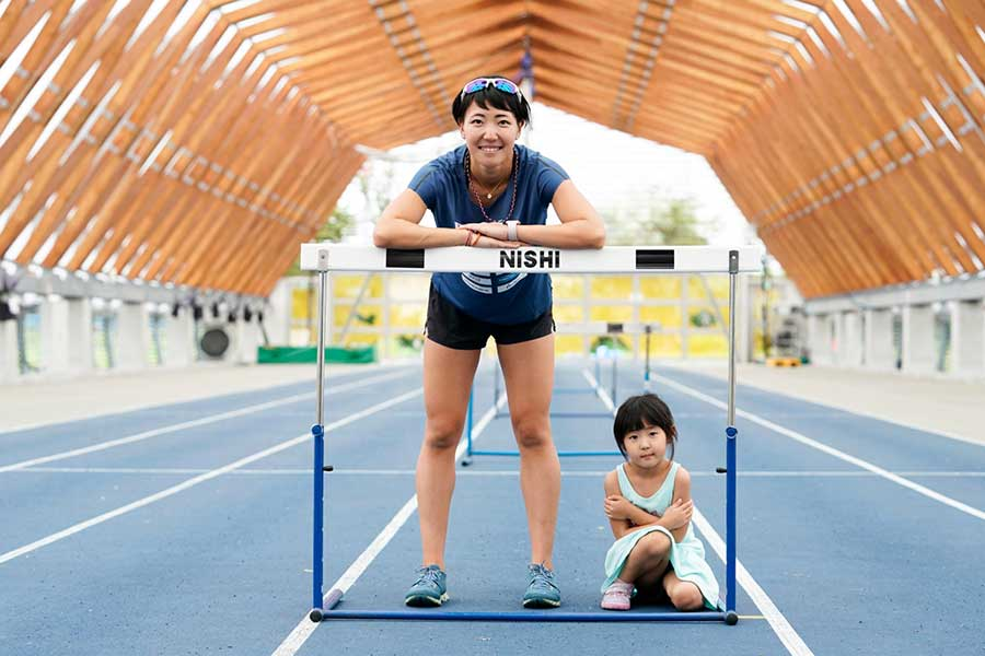 寺田さんが東京五輪のレース後に果緒ちゃんにかけてほしい言葉とは【写真:本人提供】