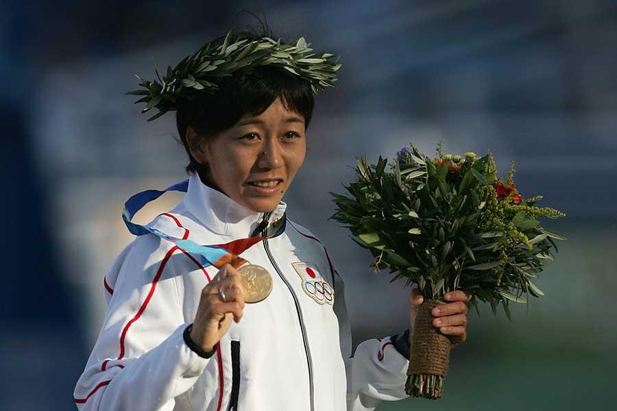 アテネ五輪で金メダルを獲得した野口みずきさん、現役世代の走る距離の少なさを指摘した【写真:Getty Images】