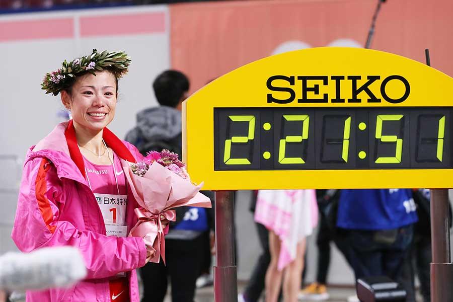 名古屋ウィメンズマラソンで優勝した松田瑞生【写真:森田直樹/アフロスポーツ】