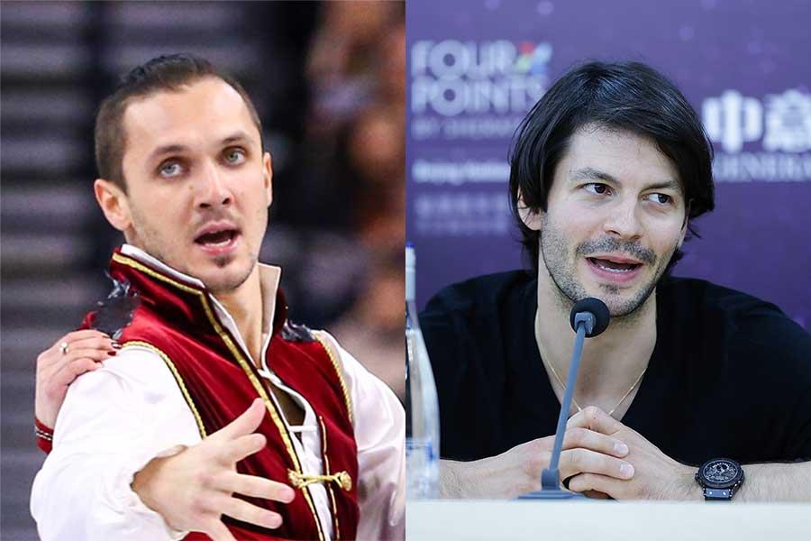 現役時代のマキシム・トランコフ氏(左)とステファン・ランビエール氏【写真:Getty Images】