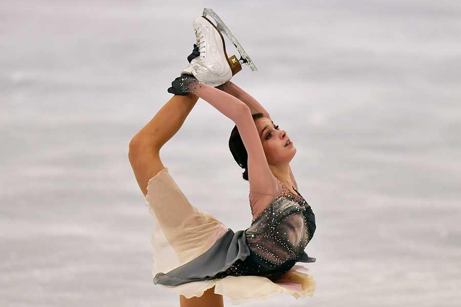 世界選手権で優勝したアンナ・シェルバコワ【写真:AP】
