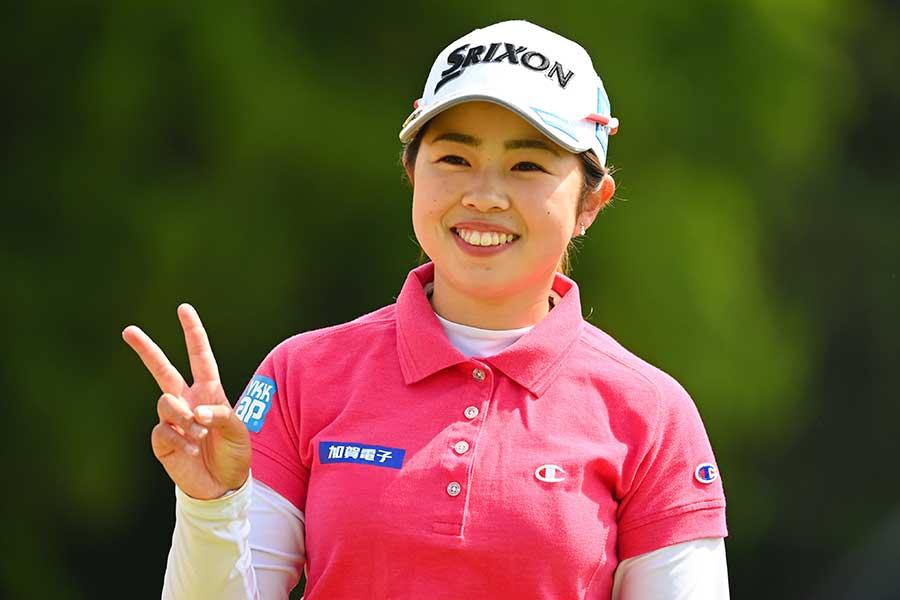 初優勝した山下美夢有は最終日に笑顔を咲かせた【写真:Getty Images】