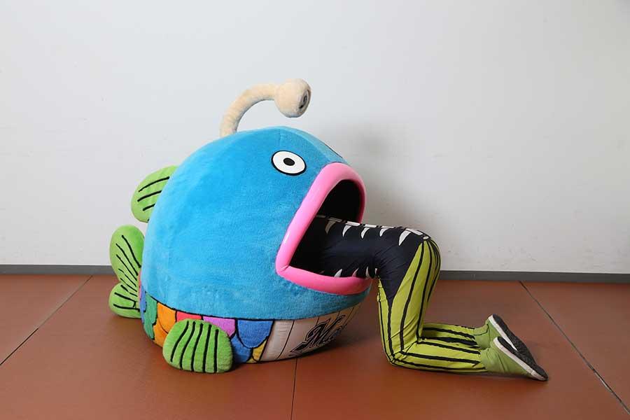 今日オリックス戦での進化を予告したロッテ謎の魚【写真:球団提供】