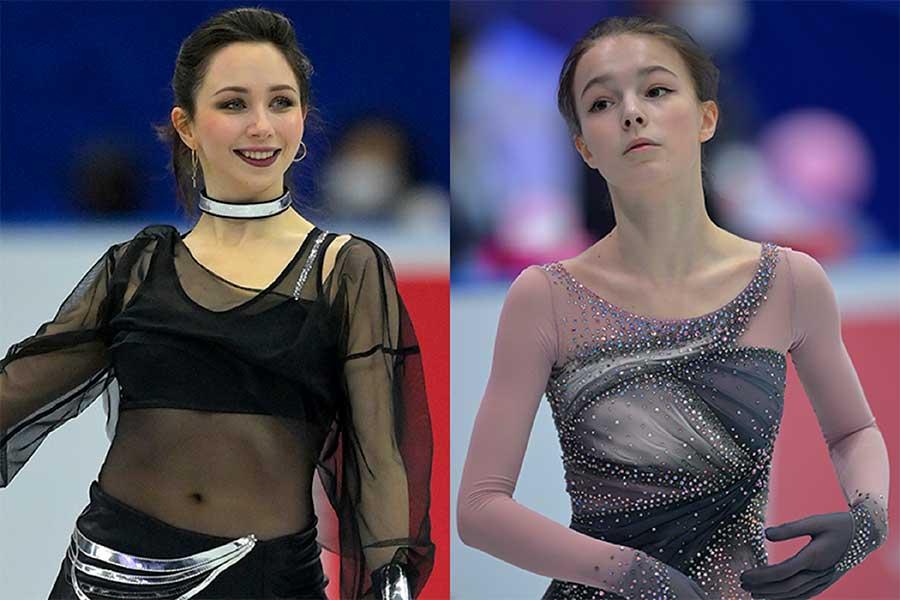 エリザベータ・トゥクタミシェワ(左)とアンナ・シェルバコワ【写真:Getty Images】