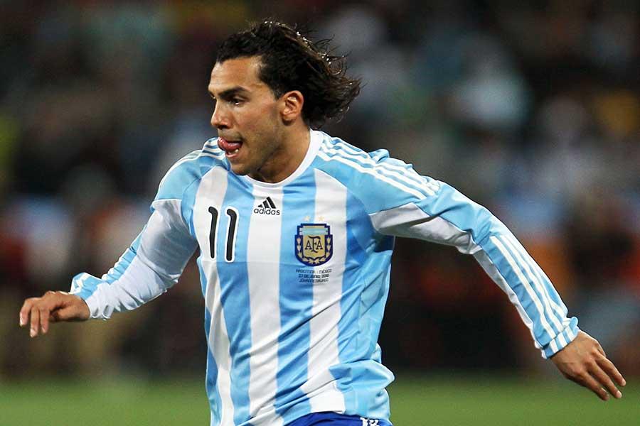 アルゼンチン代表時代のカルロス・テベス【写真:Getty Images】