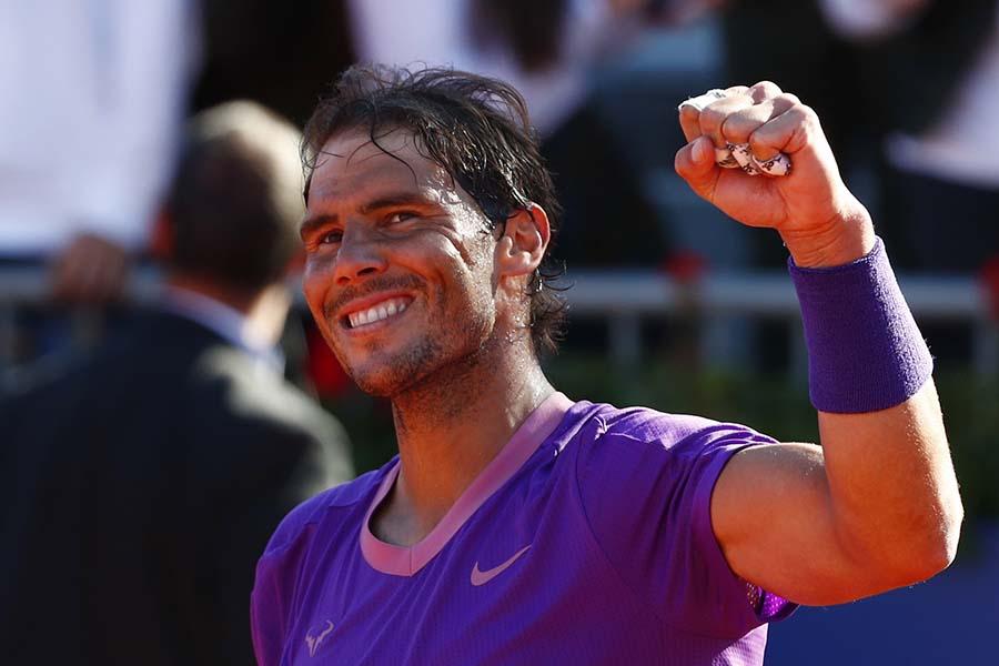 バルセロナ・オープン準決勝進出のラファエル・ナダル【写真:AP】
