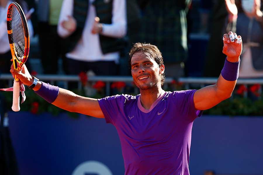 バルセロナオープンで決勝進出を決めたラファエル・ナダル【写真:AP】