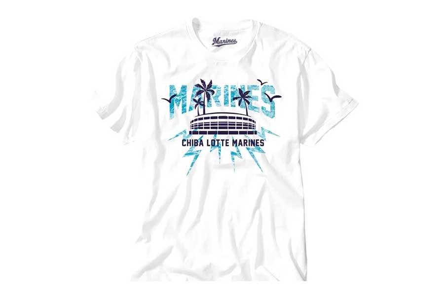 ロッテが販売するフェス風デザイングッズ・Tシャツ(STADIUMデザイン)【写真:球団提供】