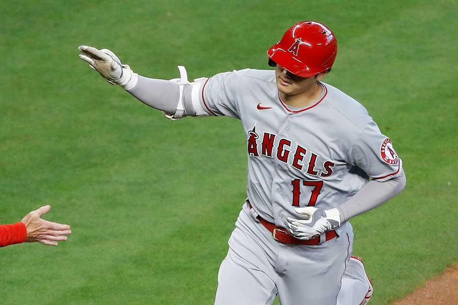 「2番・指名打者」で先発出場したエンゼルスの大谷翔平【写真:AP】
