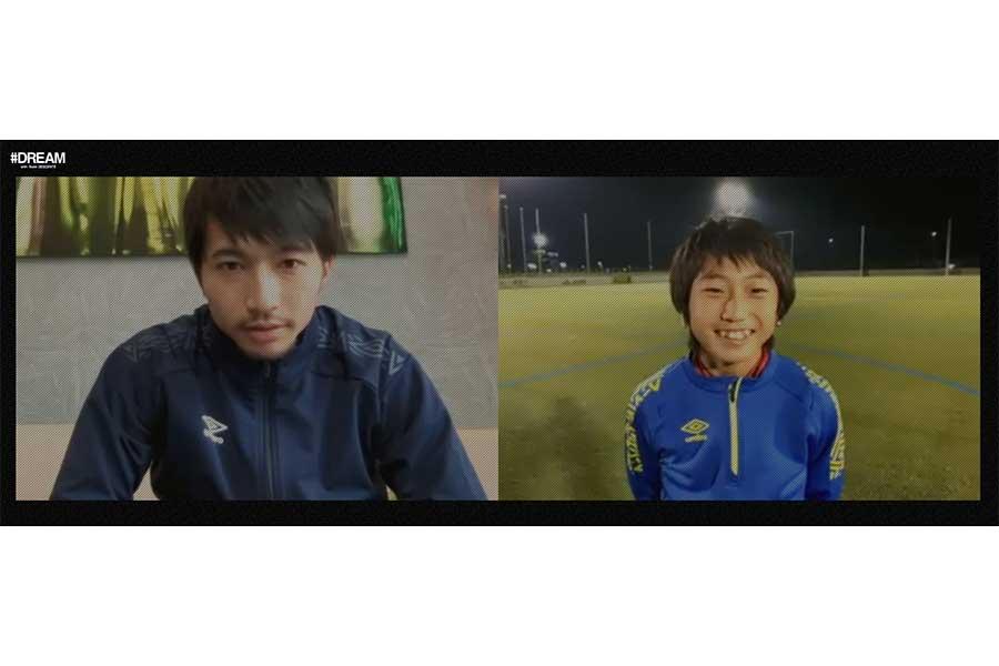 サッカー日本代表の柴崎岳選手と龍田尋斗くん