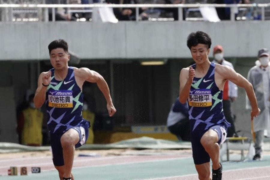 小池祐貴(左)は2位、多田修平は4位だった【写真:奥井隆史】