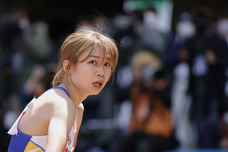 静岡国際・女子800メートルで優勝した北村夢【写真:奥井隆史】