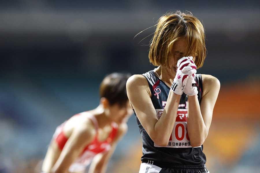初の五輪代表に内定した安藤友香【写真:奥井隆史】