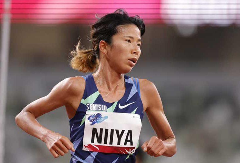 9日のレースで力走する新谷仁美、真っすぐに意見を語った【写真:奥井隆史】