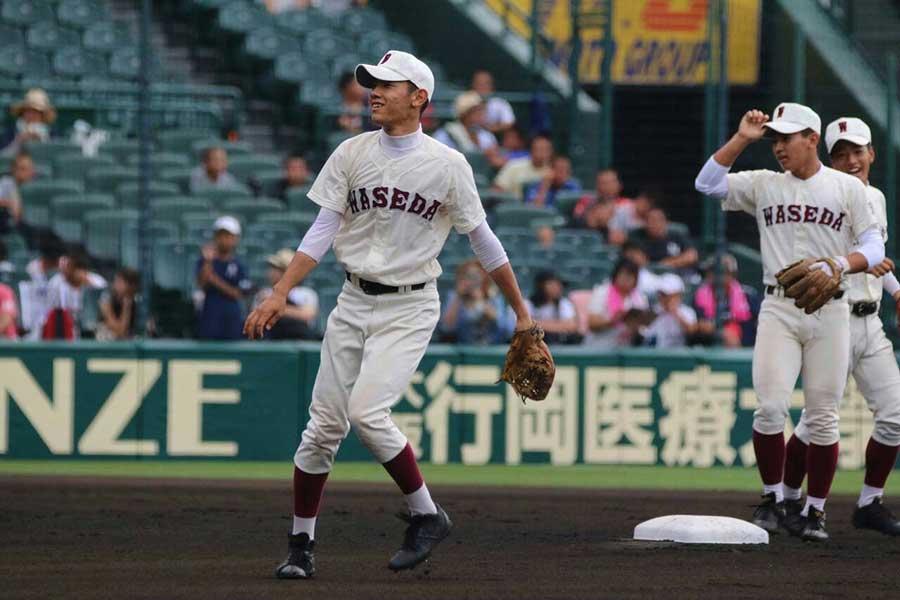 早実高2年夏、吉村は清宮らと出場した甲子園で4強進出した【写真:本人提供】