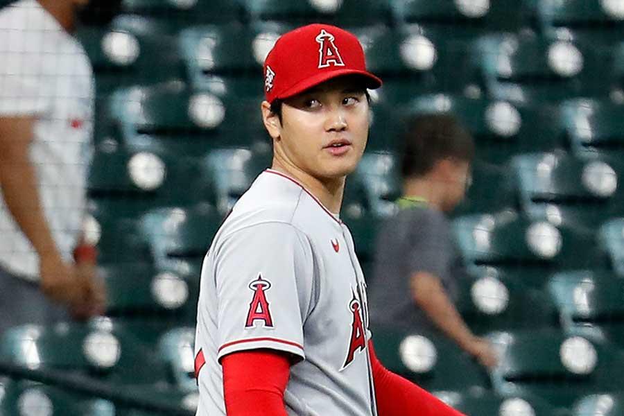 「2番・投手」で先発出場したエンゼルスの大谷翔平【写真:Getty Images】