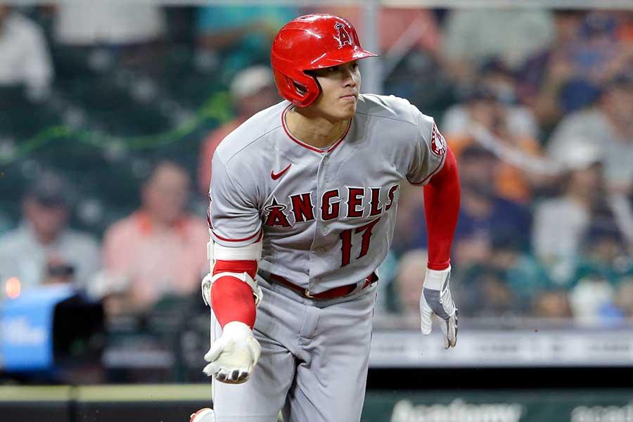「2番・投手」で先発出場したエンゼルスの大谷翔平【写真:AP】