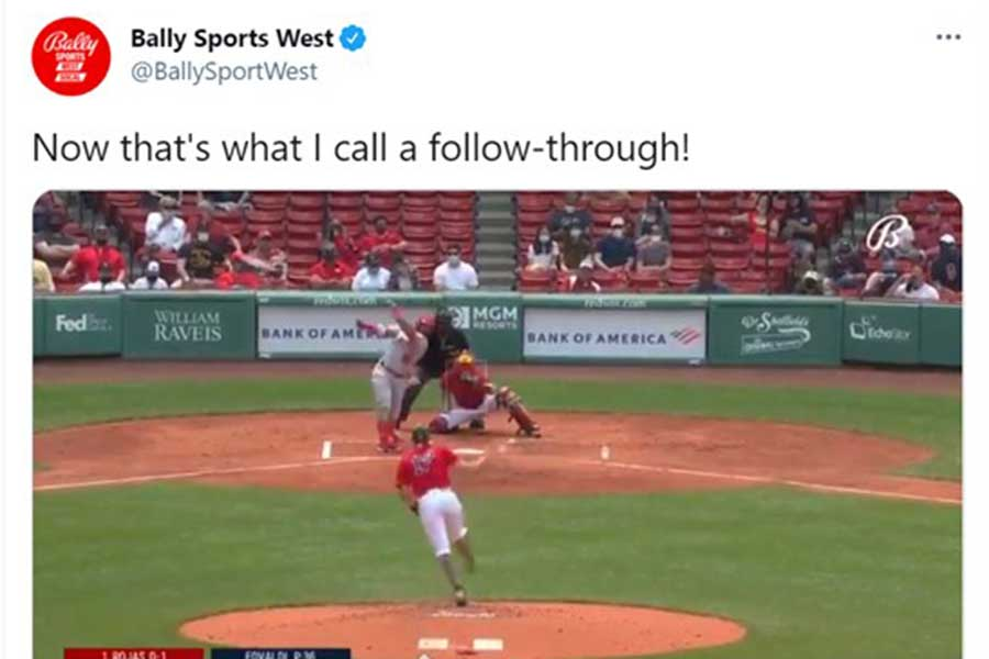 米大リーグの試合で、ある観客が経験した幸運な出来事が注目を浴びている(画像は「バリー・スポーツ・ウェスト」公式ツイッターより)