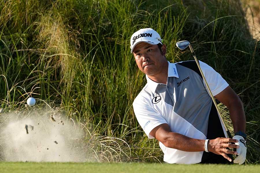 全米プロゴルフ選手権、通算3アンダーで2打差の4位に浮上した松山英樹【写真:AP】