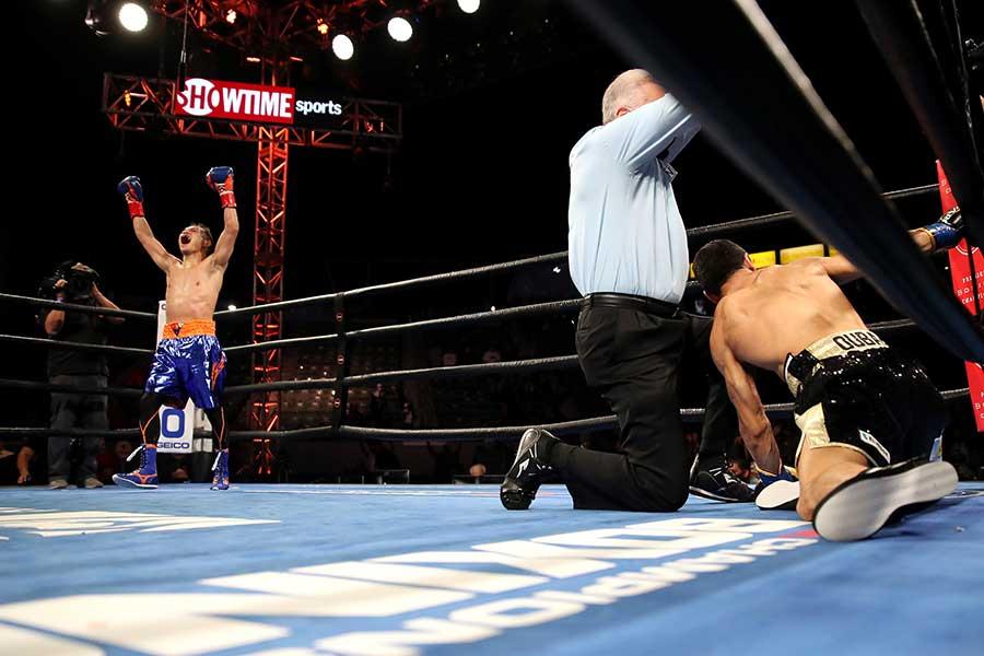 WBC世界バンタム級タイトルマッチ、ノニト・ドネアはノルディ・ウーバーリに4回TKO勝ちした【写真:Getty Images】