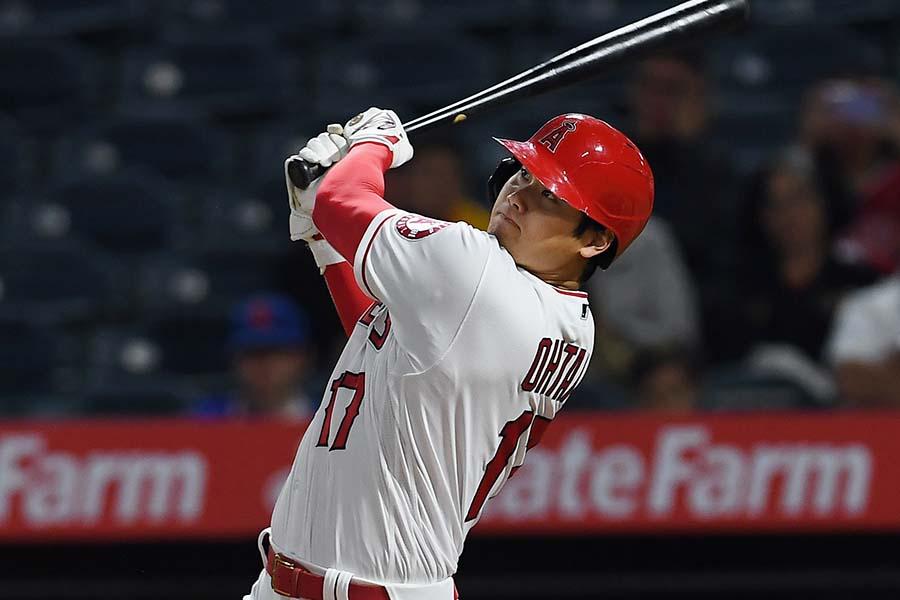 タイガース戦で今季初の1試合2本塁打を放つ大谷翔平【写真:Getty Images】