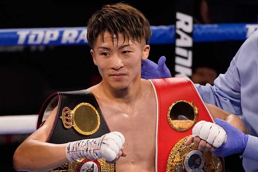 6月19日(日本時間6月20日)、マイケル・ダスマリナスにTKO勝ちした井上尚弥【写真:AP】