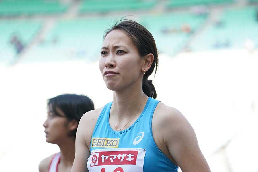 日本選手権・女子100メートル予選に臨んだ福島千里【写真:編集部】