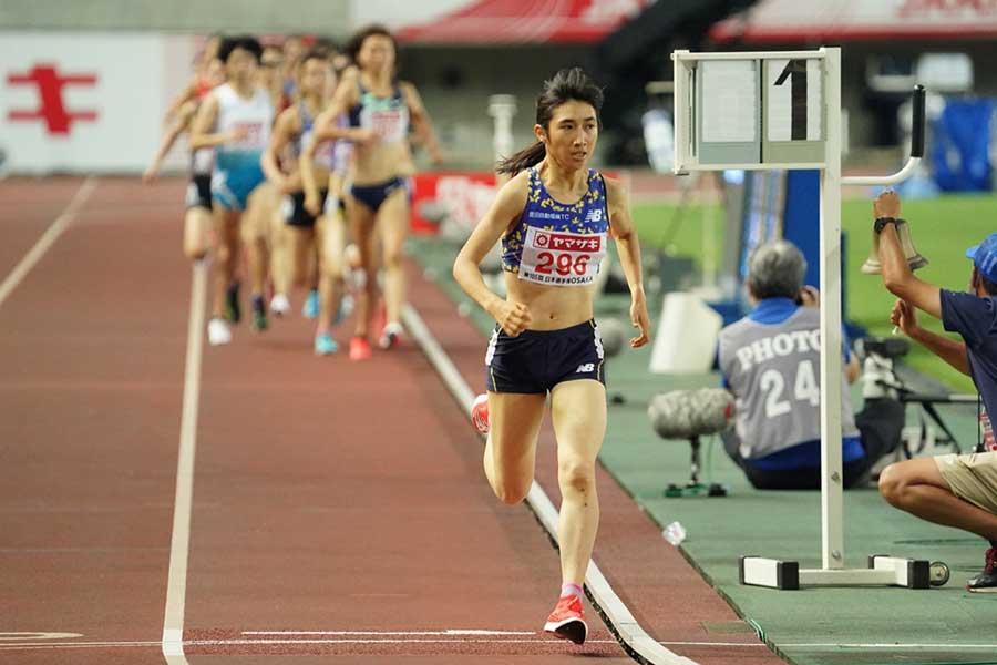 陸上・日本選手権、女子1500メートルで連覇を果たした田中希実【写真:編集部】