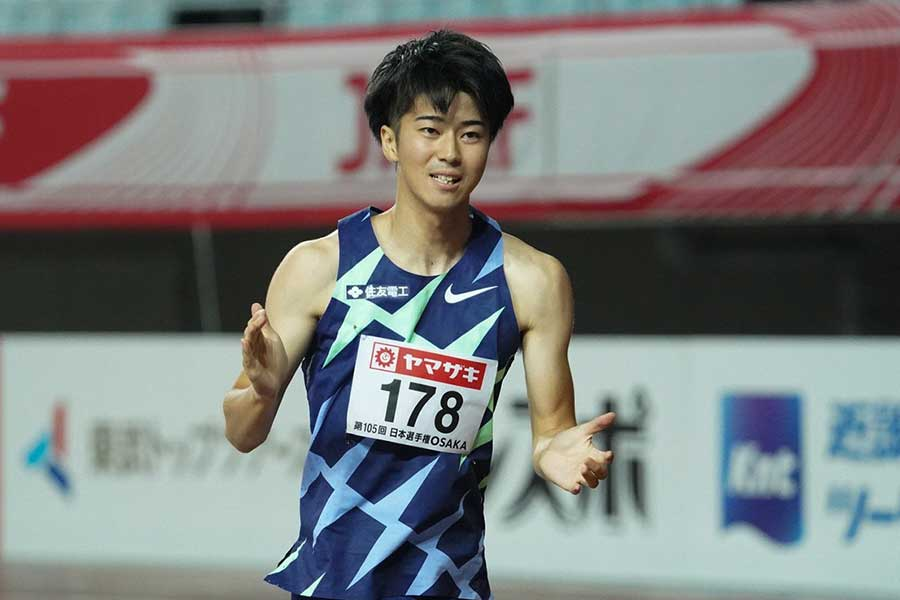 陸上・日本選手権、男子100メートルで優勝した多田修平【写真:編集部】