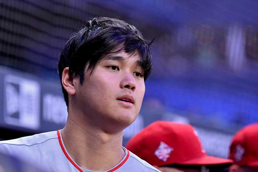 初回の第1打席で24号本塁打を放った大谷翔平【写真:Getty Images】