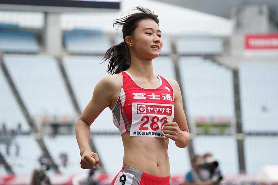 女子100メートル障害決勝で6着に終わった田中佑美【写真:編集部】