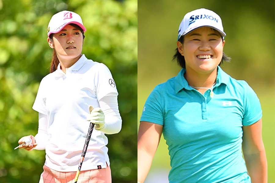 稲見萌寧(左)と畑岡奈紗の五輪出場が決定的となった【写真:Getty Images】