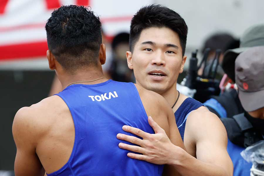 男子200メートル決勝で20秒46で優勝した小池祐貴【写真:奥井隆史】