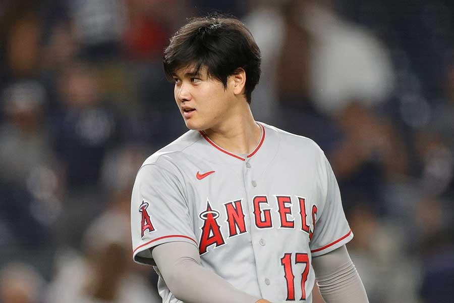 ヤンキース戦に「2番・DH」で先発出場したエンゼルスの大谷翔平【写真:Getty Images】