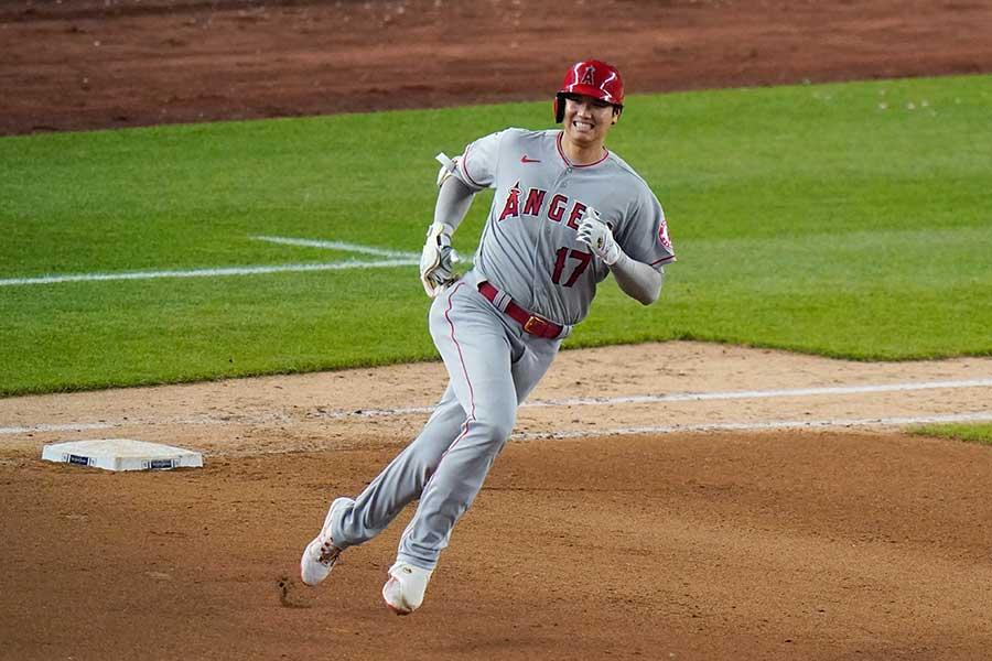 ヤンキース戦に「2番・DH」で先発出場したエンゼルスの大谷翔平【写真:AP】
