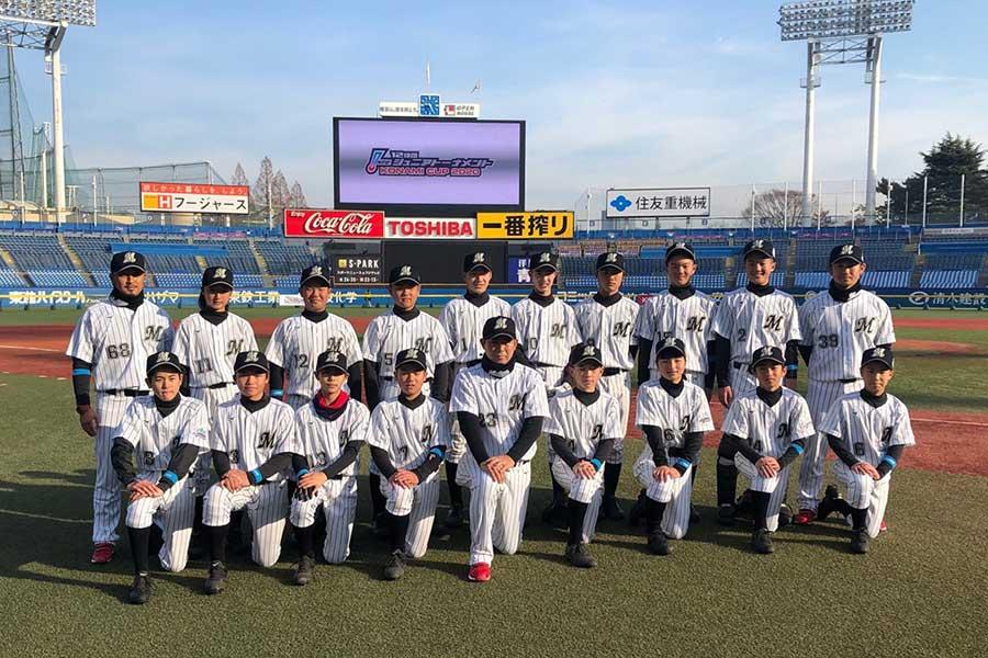 2020年のロッテ・ジュニアチーム【写真:球団提供】