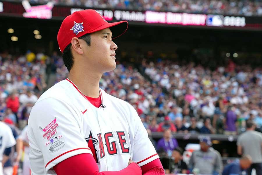 日本選手として初のホームランダービーに出場したエンゼルスの大谷翔平【写真:Getty Images】