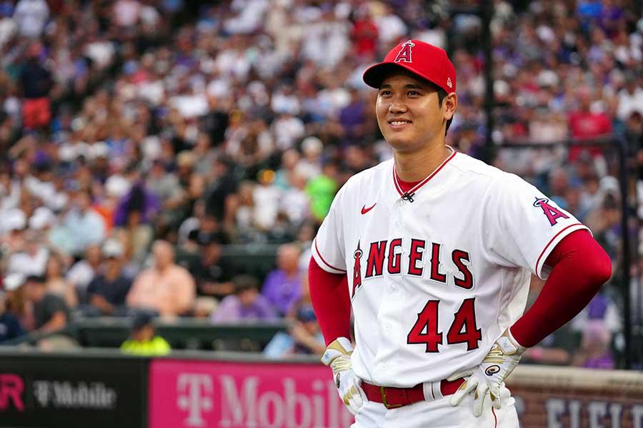 日本選手として初のホームランダービーに出場するエンゼルスの大谷翔平【写真:Getty Images】