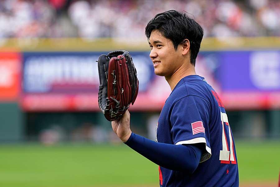 オールスターゲームに「1番・DH」で出場するエンゼルスの大谷翔平【写真:AP】