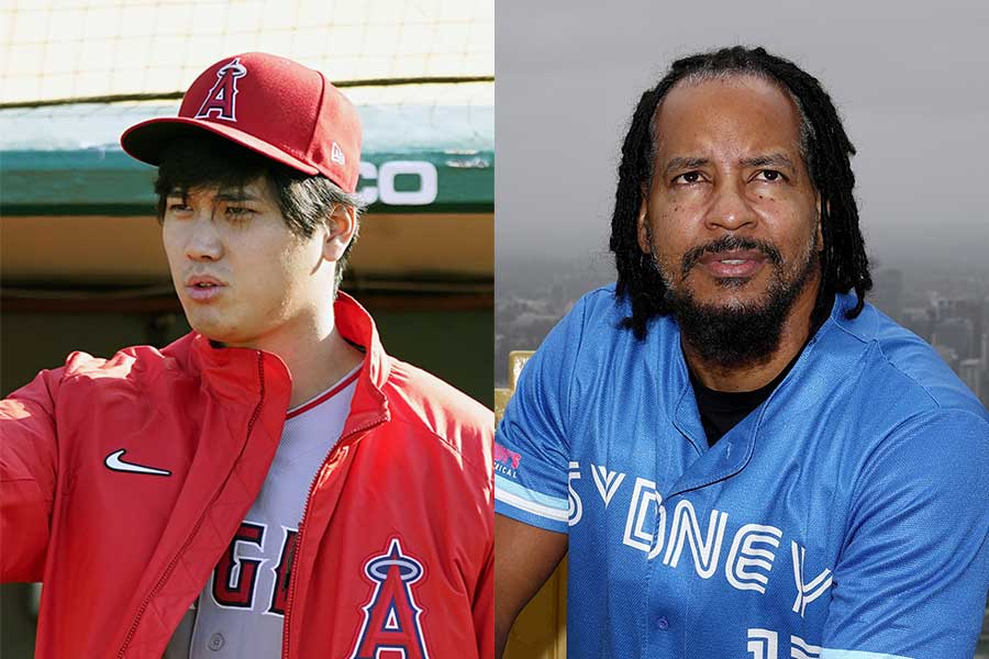 エンゼルスの大谷翔平(左)とマニー・ラミレス氏【写真:AP,Getty Images】