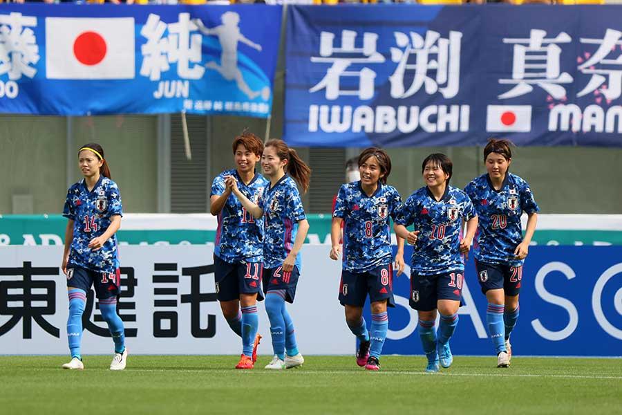 なでしこジャパンの選手たち【写真:Getty Images】