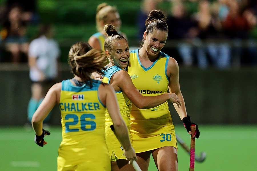 女子ホッケーオーストラリア代表の選手たち(撮影は2019年)【写真:Getty Images】