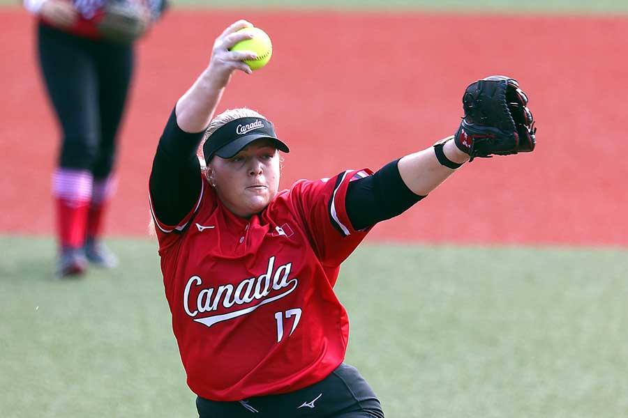 4回無失点と好投したソフトボール・カナダ代表のサラ・グローネウェゲン【写真:Getty Images】