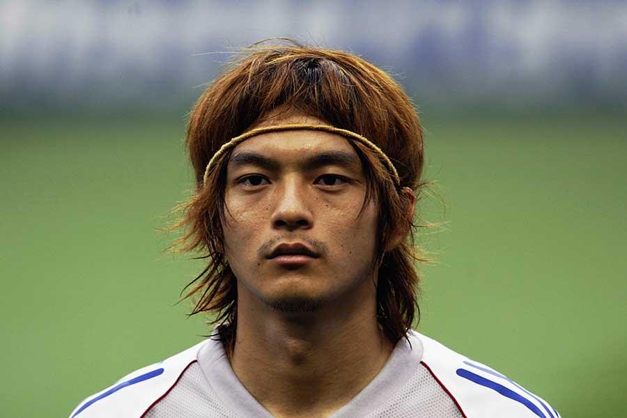 2002年日韓W杯のベルギー戦に出場した松田直樹さん【写真:Getty Images】