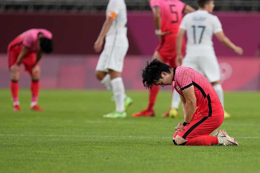 韓国はニュージーランドの堅い守りを崩せなかった【写真:AP】