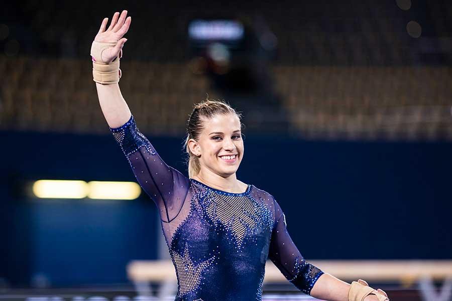 体操のドイツ代表エリザベト・ザイツ【写真:Getty Images】