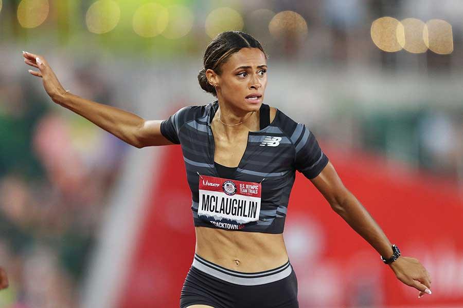 陸上女子400メートル障害、米国代表のシドニー・マクローリン【写真:Getty Images】