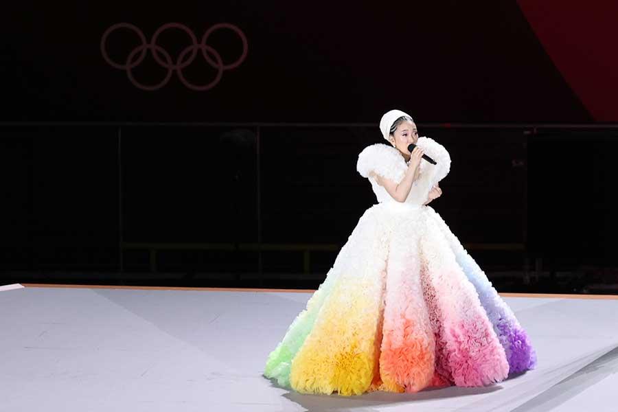 東京五輪の開会式で「君が代」を歌った歌手のMISIA【写真:Getty Images】